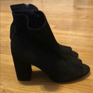 MIA peep toe sock booties
